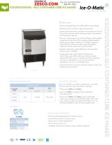 Ice-o-matic ICEU220 Spec Sheet