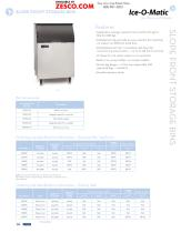 Ice-o-matic Ice Bin Spec Sheet