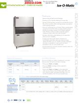 Ice-o-matic ICE1407 Spec Sheet