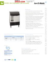 Ice-o-Matic ICEU150 Spec Sheet