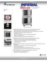 Imperial ICVG-2 / ICVDG-2 Gas Convection Oven Spec Sheet