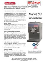SaniServ 708 Spec Sheet