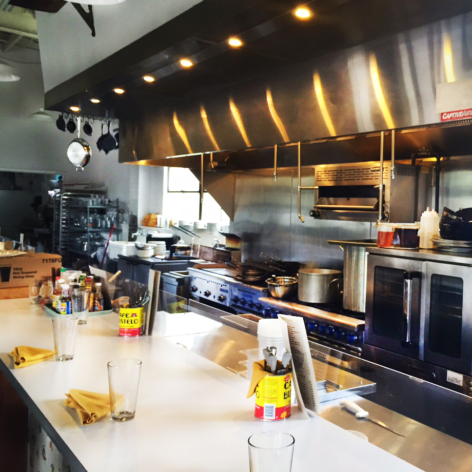 Counter, front of house, and commercial kitchen design services