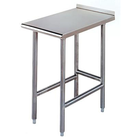 Advance Tabco TFMS Equipment Filler Work Table W X D - Stainless steel open base work table