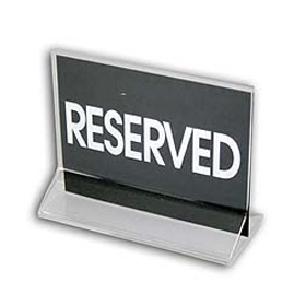 cal mil 500 card stock reserved sign 4 1 2 w x 3 1 2 h signs
