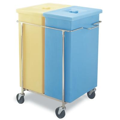 Faribo P454 CA Ingredient Bin Cart with 2 Each Containers