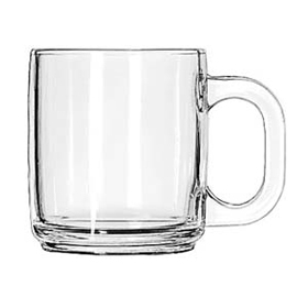 Libbey 5201 10 Oz Stacking Glass Coffee Mugs Coffee Cups and