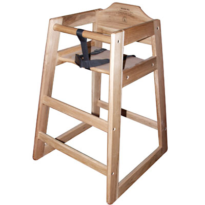Stackable High Chair Natural Finish  sc 1 st  ZESCO.com & Winco CHH-101 - Classic Wood Youth Seat High Chair - Assembly ...