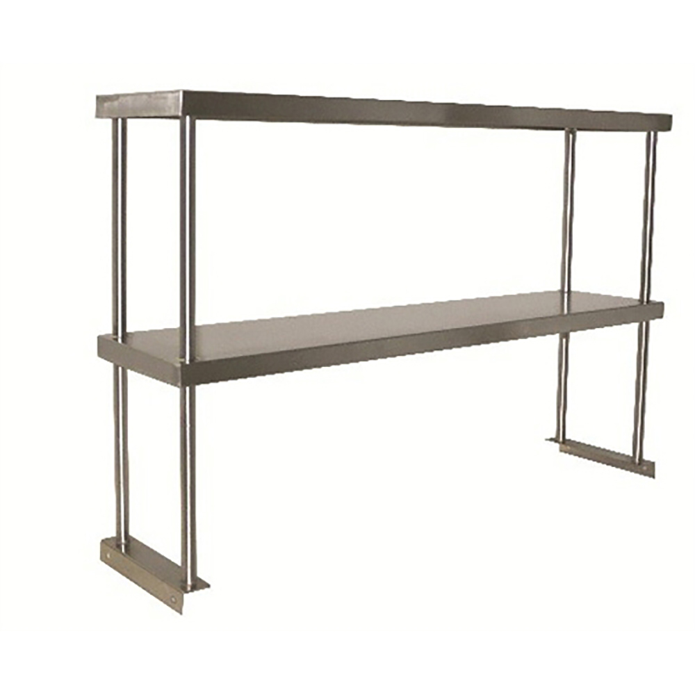 Restaurant Kitchen Metal Shelves bk bk-osd-1872 - double over shelf - stainless steel - overshelves