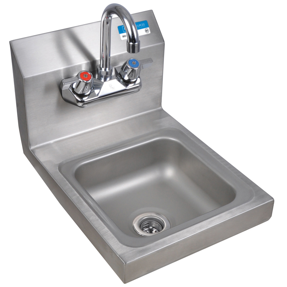 BK Resources BKHS-W-SS-P-G - Hand Wash Sink with Faucet - Space ...