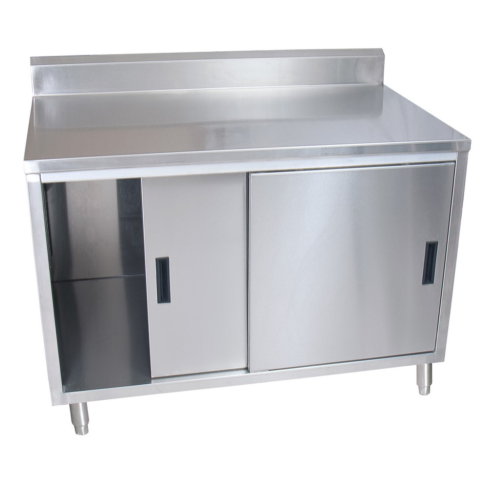 "10 Foot Stainless Steel Workstation Cabinets: 48"" W X 30"" D"