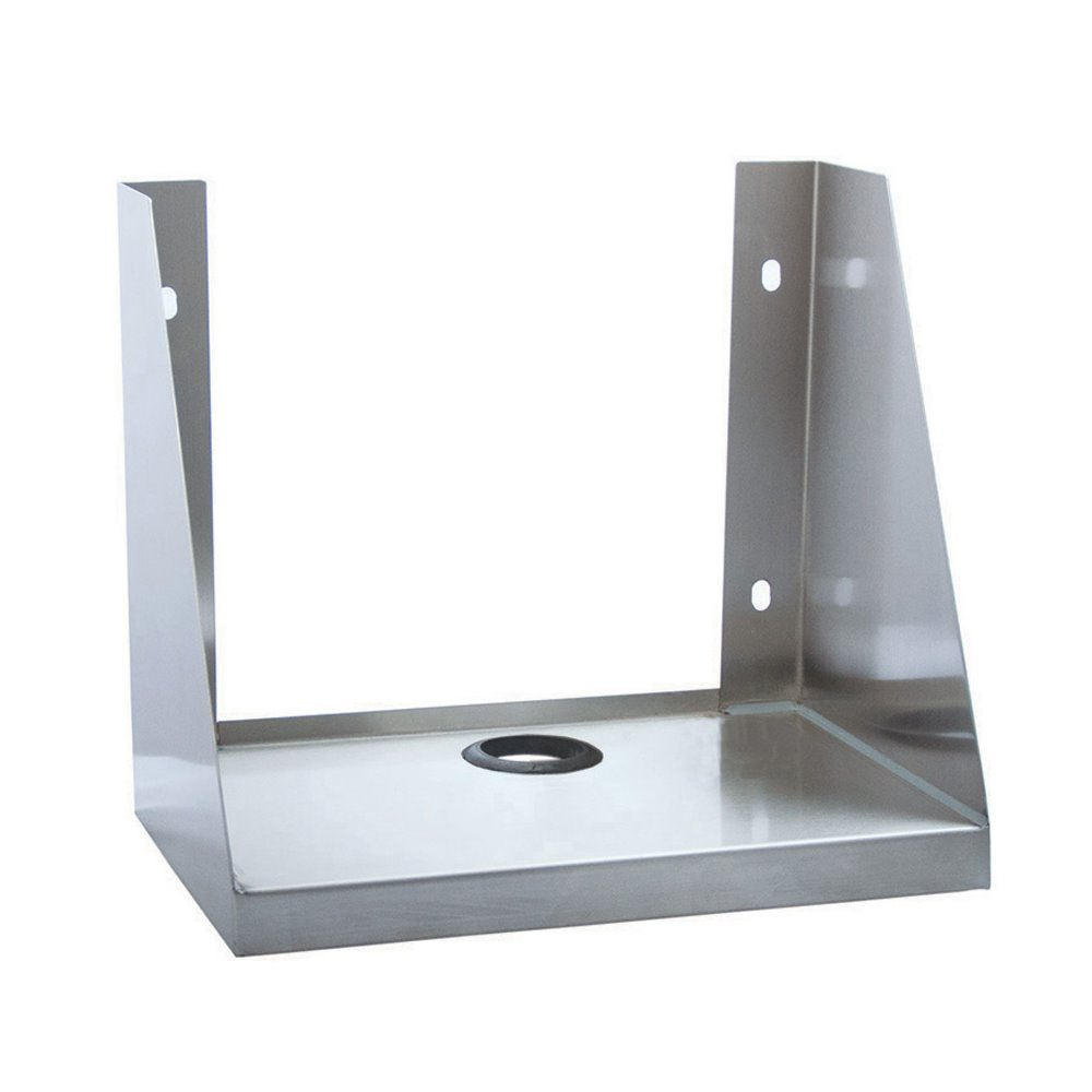 stand ship on wood depot free products cable with hole w orders right monitor printer small black shelf