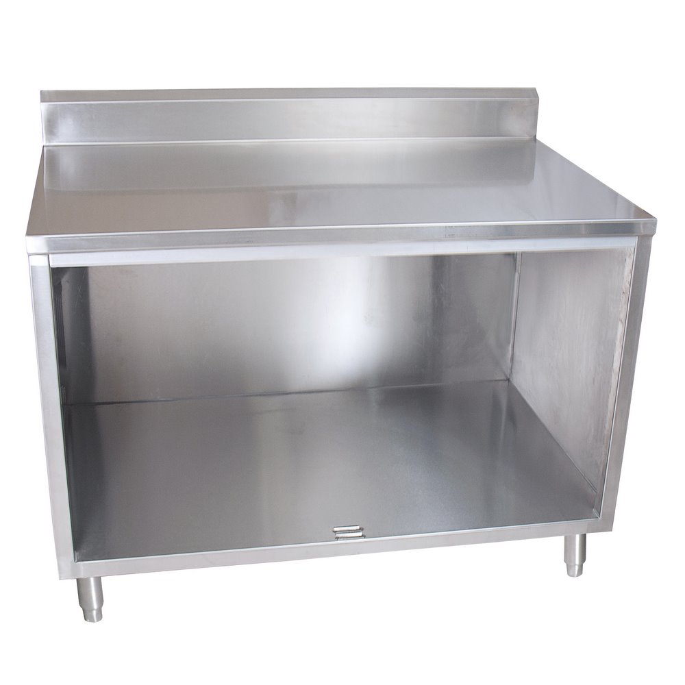 BK BKDCR Work Table Enclosed Base Open Front W X - Enclosed stainless steel work table