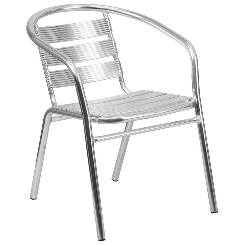 Flash Furniture TLH 1 GG Aluminum Stack Chair ...