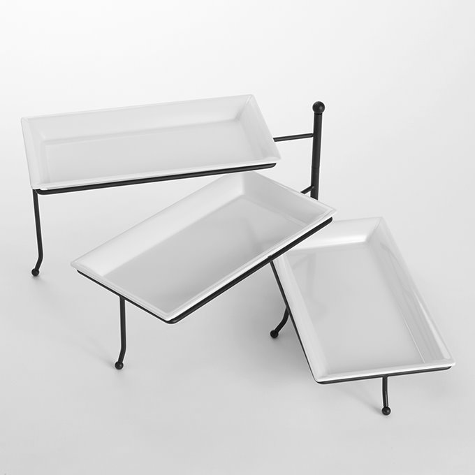 american metalcraft ttmel3 3 tier metal stand with platters tiered serving trays. Black Bedroom Furniture Sets. Home Design Ideas