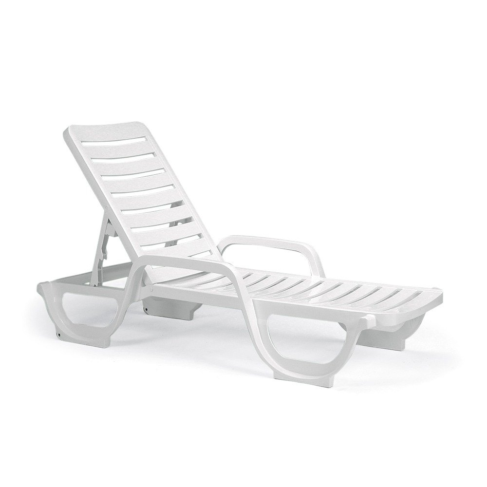Chaise Lounge Without Cushion; White ...