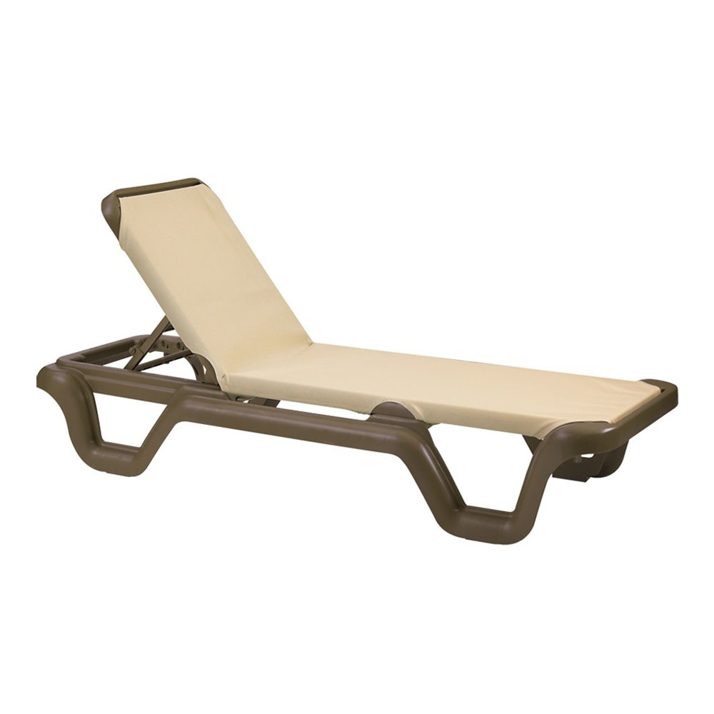 Marina Adjustable Sling Chaise Lounge Chair ...