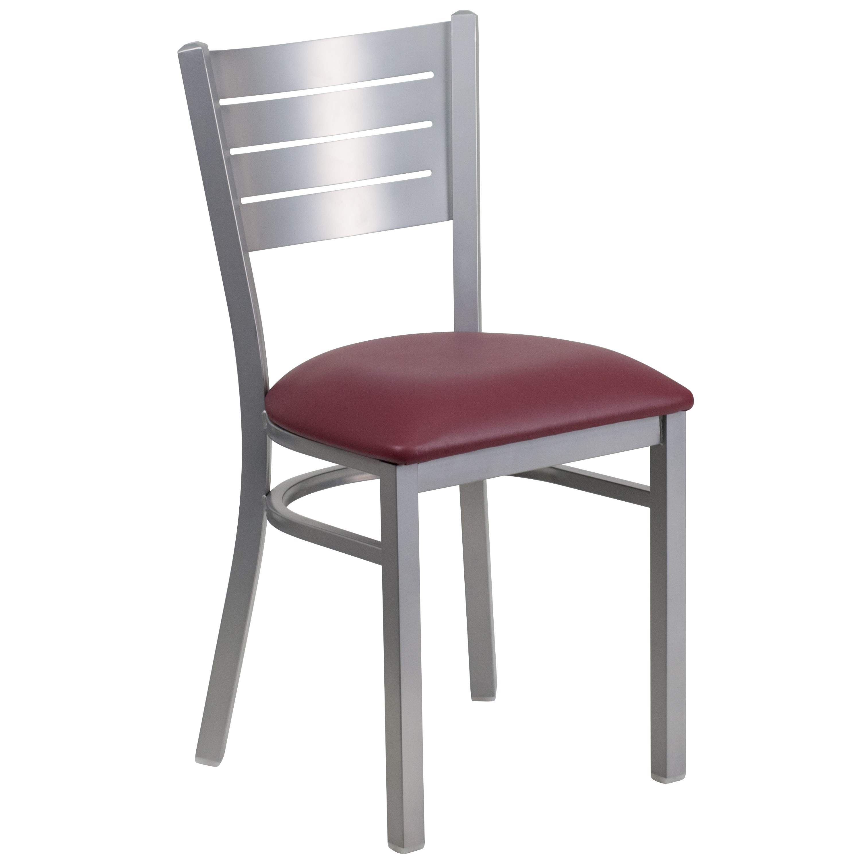 metal back chair